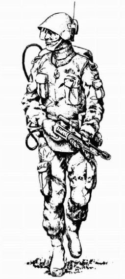 'Mercenary Striker' from Classic Traveller Book 4: Mercenary, by Dick Hentz