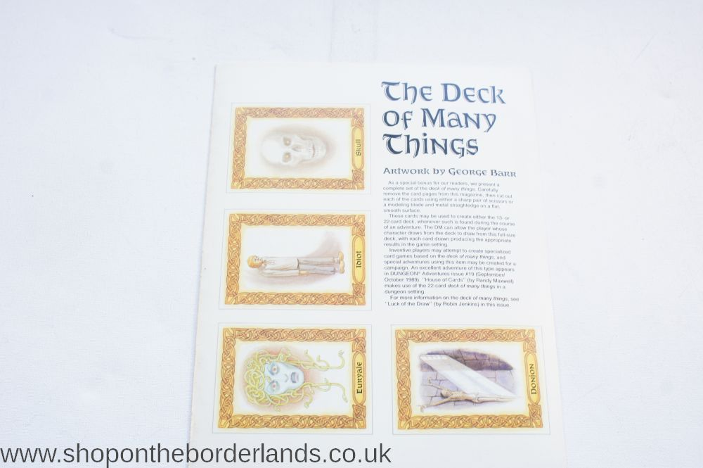 ad&d 2nd edition deck of many things
