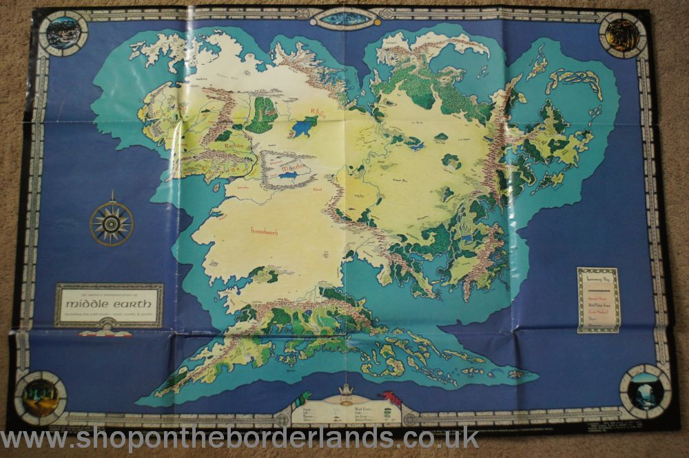 poster map of middle earth poster map for merp