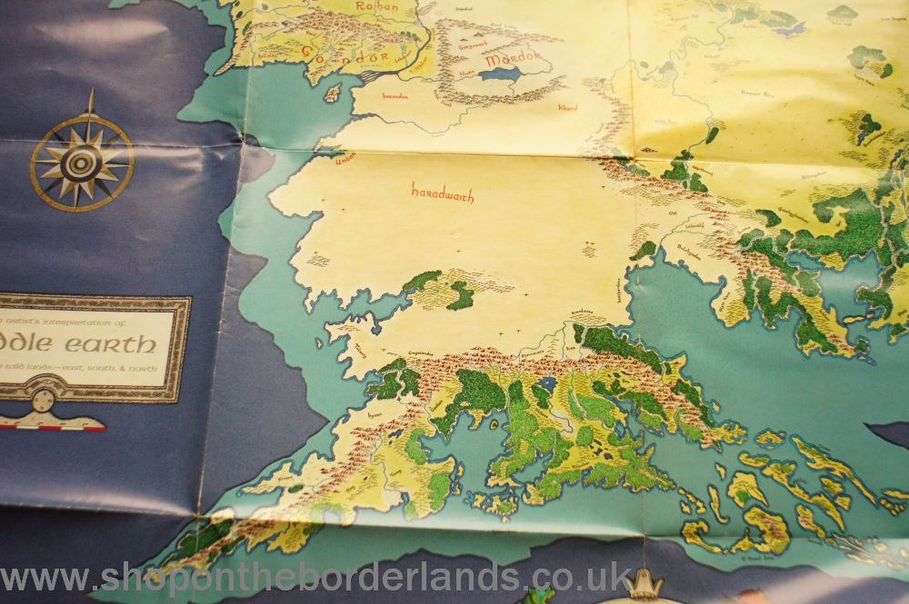 Did Maps In Middle Earth Have West: Poster Map Of Middle-Earth, Poster Map For MERP