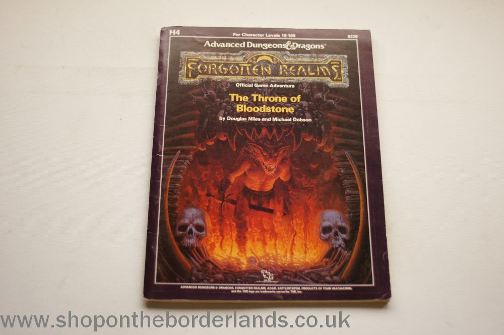 The Throne of Bloodstone (H4), softback Forgotten Realms adventure for AD&D  1st edition