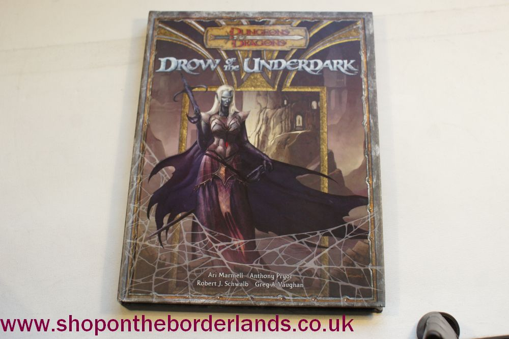 Drow of the Underdark, hardback supplement for D&D 3rd/3 5th edition