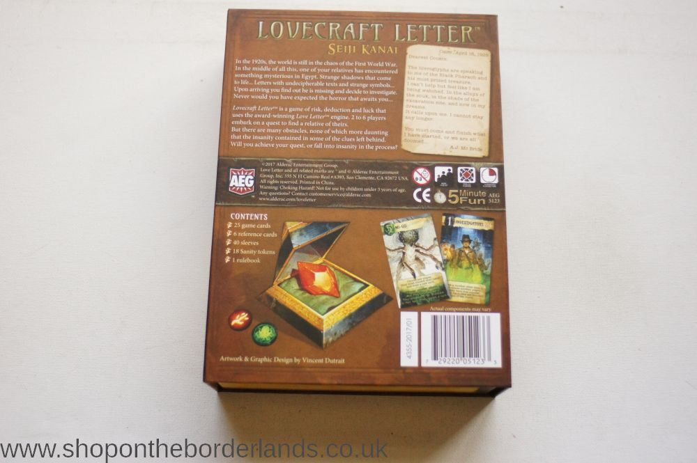 Lovecraft Letter Boxed Card Game The Shop On The Borderlands